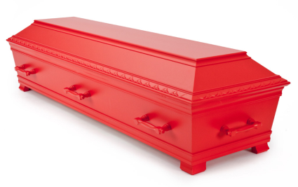 Muslimsk Begravelsesbyrå kiste Kantate Kiste, Kardinalrød