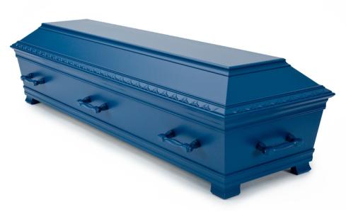 Muslimsk Begravelsesbyrå kiste Kantate Kiste, Skagerrakblå