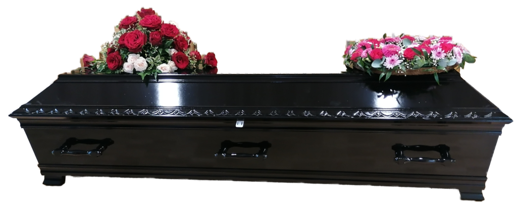 Sort kiste fra Muslimsk Begravelsesbyrå
