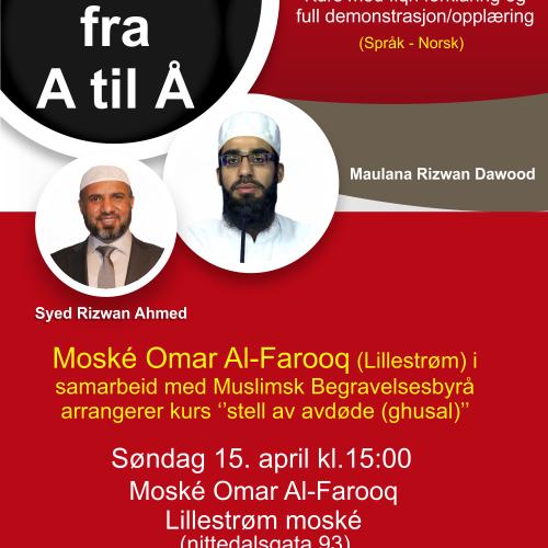 Janazah kurs Muslimsk Begravelsebyrå moske omar al-farooq lillestrøm